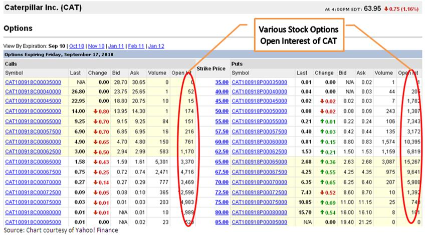 Stock options open interest definition